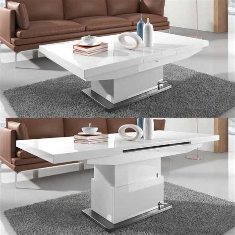extending coffee table elgin extendable coffee converting dining table in white