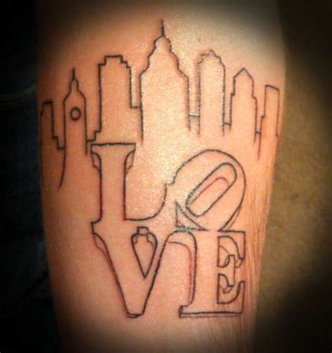philadelphia tattoo designs best 25 skyline ideas on city