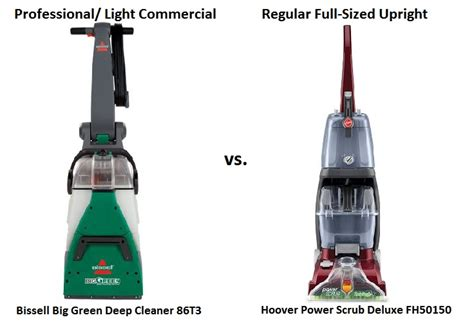 professional vs regular upright home carpet cleaners