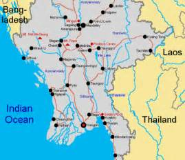 map of with towns maps of cities of myanmar myanmar travel
