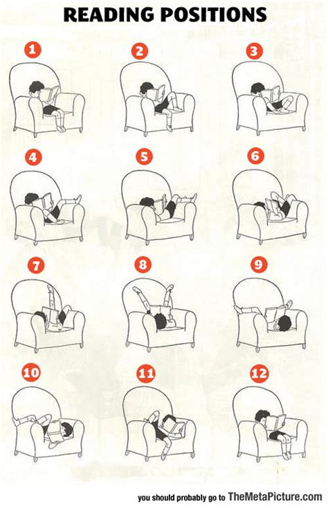 positions couch the many reading positions the meta picture