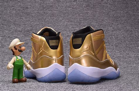 all gold basketball shoes 2017 air 11 retro all gold basketball shoes mens