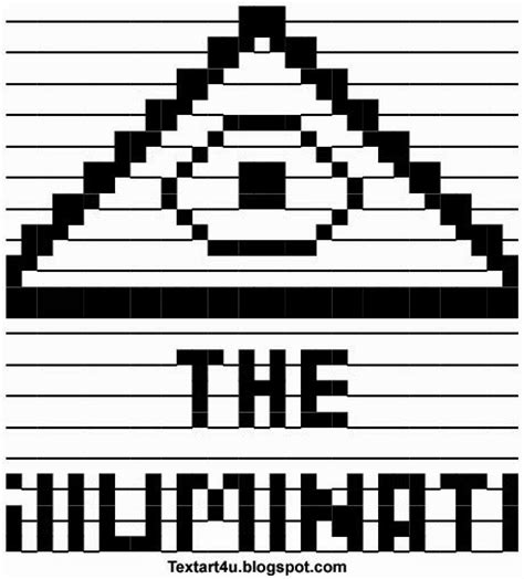 illuminati text symbol the illuminati ascii text cool ascii text 4 u