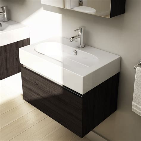 Echo Bathroom Accessories Echo 60cm Single Draw Wall Mounted Unit And Worktop Buy At Bathroom City