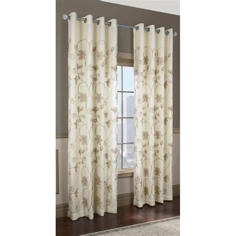 lowes curtains and blinds commonwealth home fashions kalida grommet curtain panel