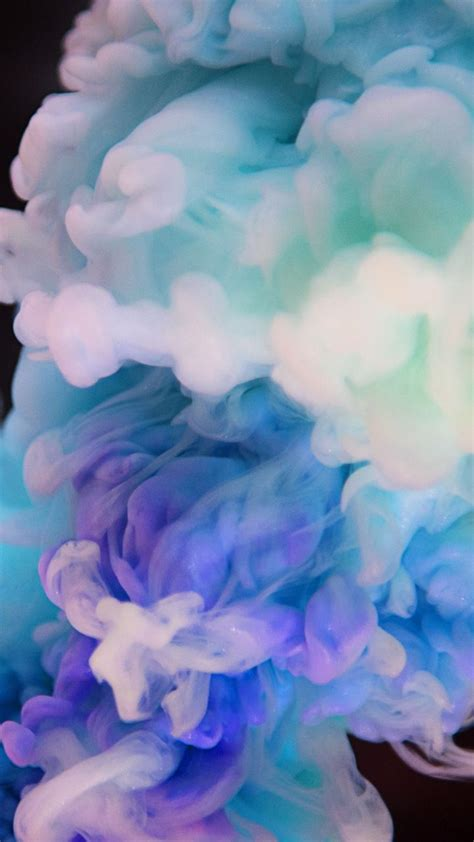 ink clouds delicate abstract  wallpaper