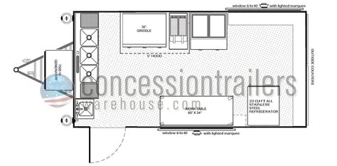 concession trailer floor plans concession trailer plans building a concession trailer