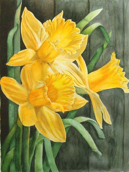 Watercolor Daffodil Tutorial | tutorial on watercolor daffodils water color tips and
