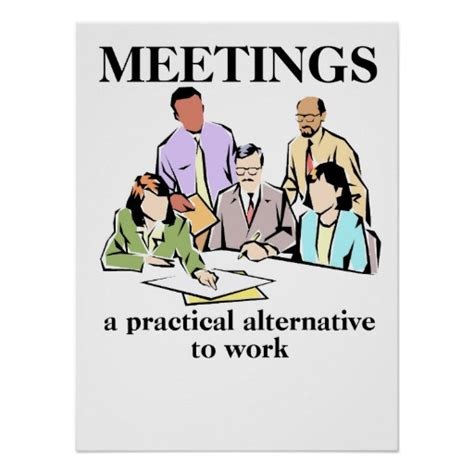 printable office poster meetings office humor workplace funny print poster zazzle