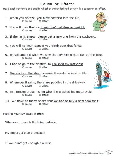 Free Cause And Effect Worksheets by Cause Effect Worksheets Fran S Freebies