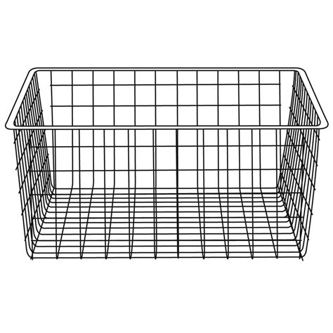 Wire Wardrobe Baskets clever closet wire basket 2 runner 185mm satin grey