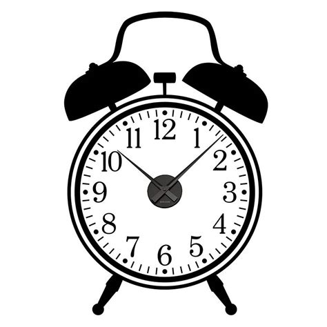 sticker wall clock working alarm clock wall sticker by spin collective