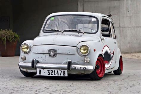 fiat car rate fiat 600 rat style lowered slammed stance cars