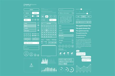 Blueprint Designer Free 20 free and new psd ui kits