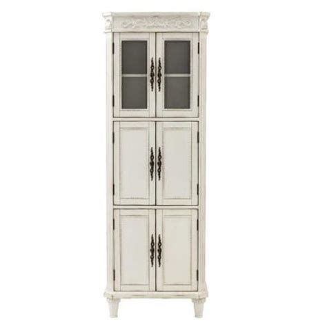 Antique Linen Closet by Home Decorators Collection Chelsea 25 In W Linen Cabinet In Antique White 1590000410 The Home