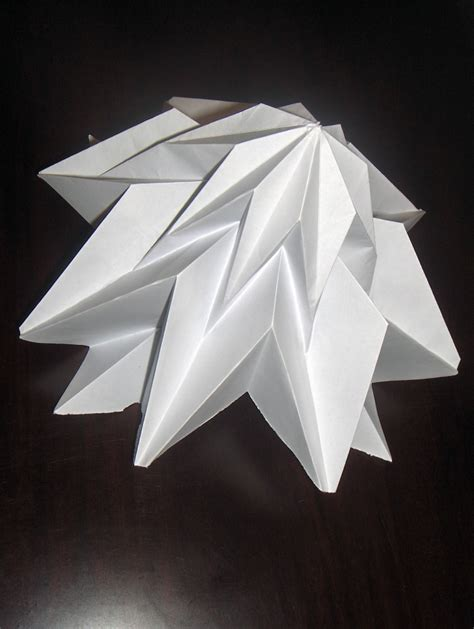 Structural Origami - 3 dimensional origami folded structures by tewfik tewfik