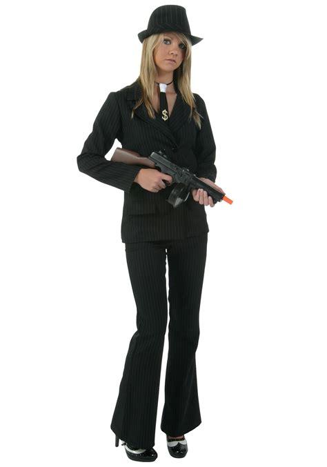 plus size gangster costume women plus size women s black gangster costume