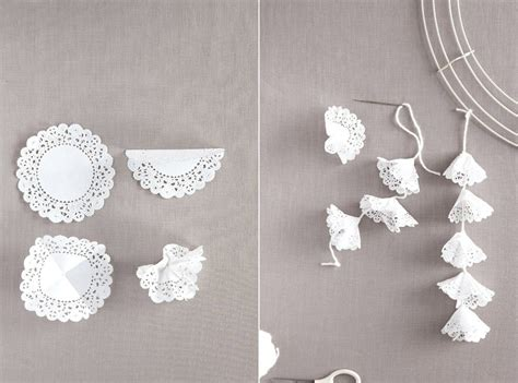 Doily Paper Craft - i these hanging origami cranes as wedding