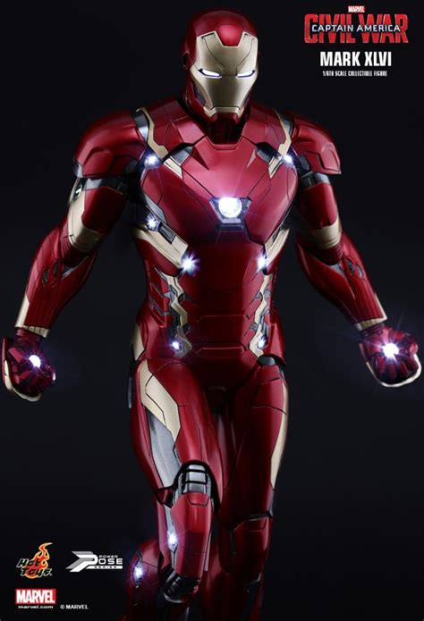 captain america by mark first detailed look at the new iron man mark xlvi 46 suit in captain america civil war