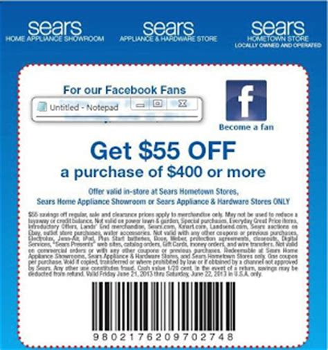 printable sears outlet coupons sears printable coupons december 2014