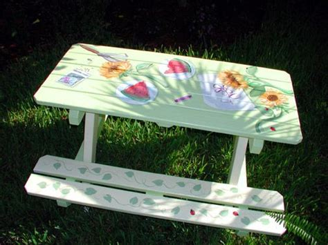 cool painted picnic tables best picnic table paint ideas diy projects