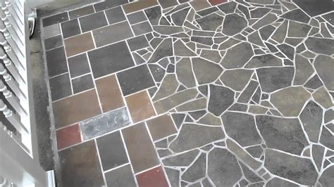 How To Fix A Broken Tile On The Floor by Slate Tile Mosaic Patio In Albany