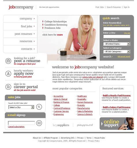 templates for job portal job portal swish template 15059