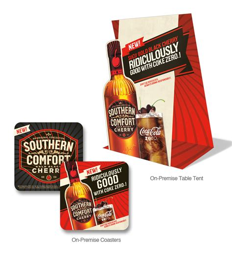 southern comfort black label pos southern comfort bold black cherry launch on behance