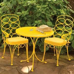 Yellow Patio Chairs Adorable Yellow Patio Furniture Homes Pinterest