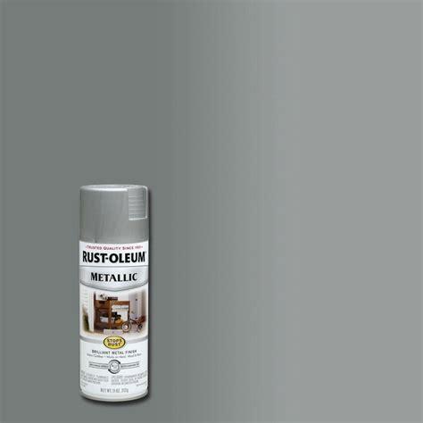 rust oleum stops rust 11 oz matte nickel protective enamel metallic spray paint 7277830 the
