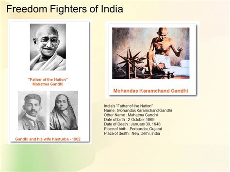 gandhi born date and death date 63rd independence 15th aug 1947 to 15th aug 2009 history
