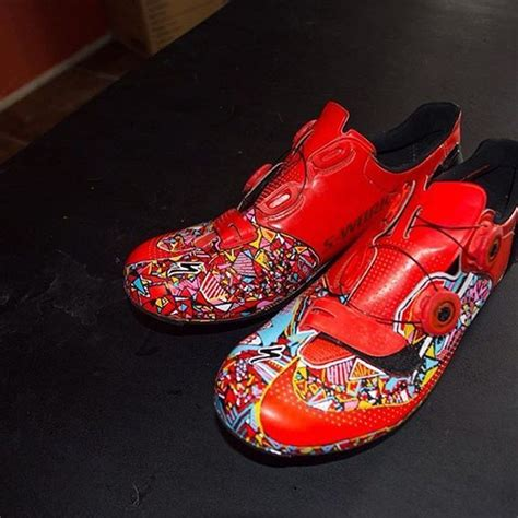 custom road bike shoes wtfkits when rusty shacklefordd gets the paint pens out