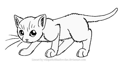 Kitty Cat Coloring Page Warrior Cats Queen Pages sketch template