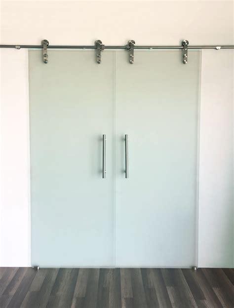 frosted glass barn door photos wall and door