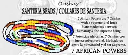 SANTERIA BEAD NECKLACE 7 AFRICAN POWERS