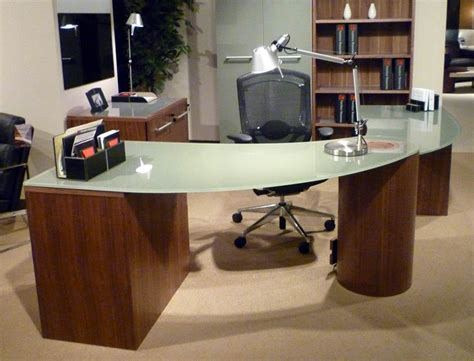 Modern Glass Top Desk Of Modern Glass Top Desk Thediapercake Home Trend