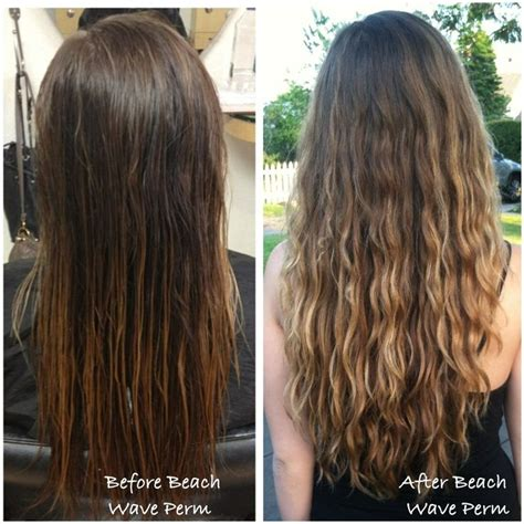 loose wave perm on pinterest body wave perm digital before and after beach wave perm done by taylor hair and