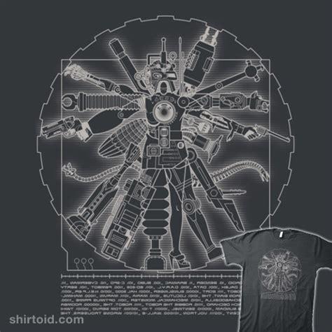 Tees Gundam Sentinel vitruvian machine shirtoid