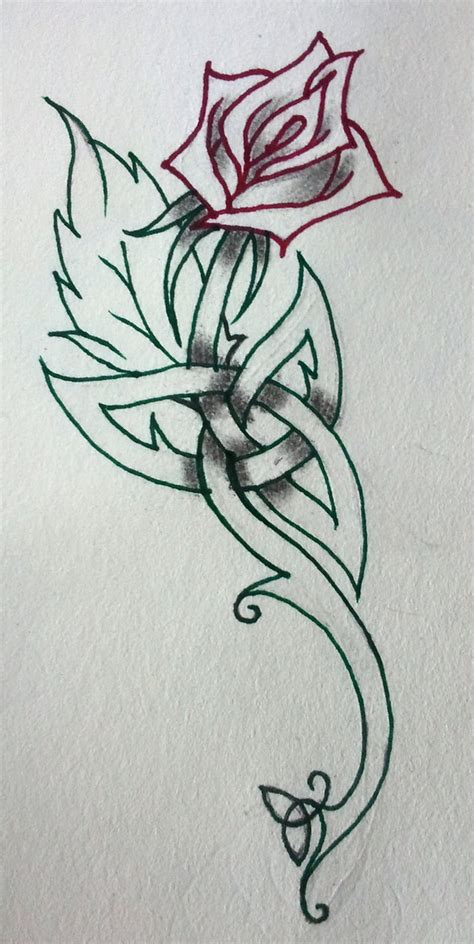 irish rose tattoo my by irishartiste on deviantart