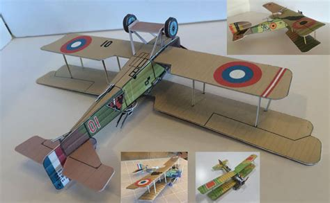 Papercraft Airplanes - biplane paper crafts