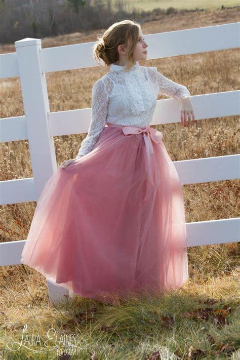 womens lengthtutu pink tulle skirt mauve pink