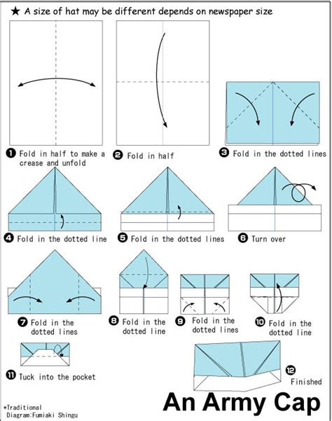 How To Fold Paper Hat - 25 best ideas about paper hats on paper hat