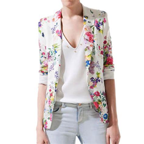 Blezer Flower flower blazer womens fashion ql