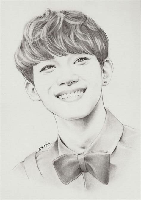sketchbook exo happy chen by manapia kpop fanart ゚ヮ゚