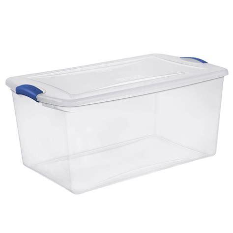 storage box sterilite 66 qt latch storage box 6 pack 19280406 the