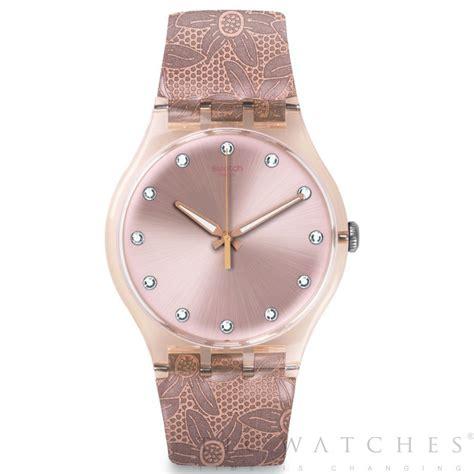 swatch suot100 stellassa gem pink leather womens
