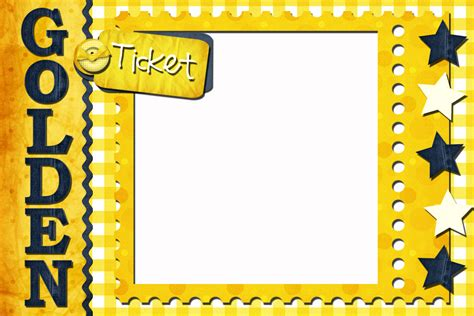 Golden Ticket Template New Calendar Template Site Free Golden Ticket Template Editable