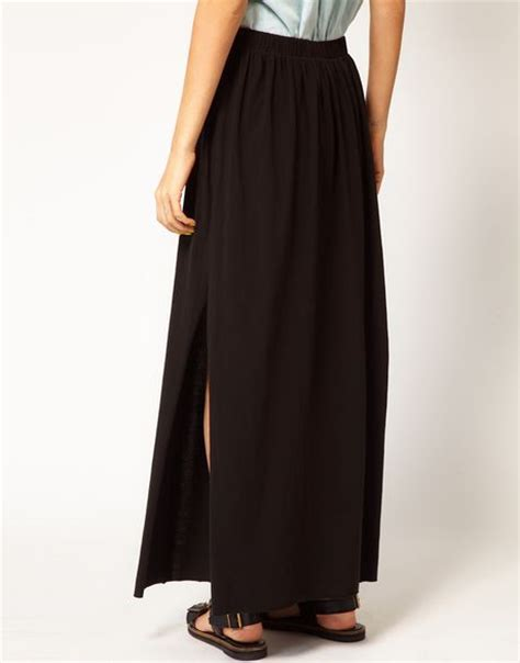 cheap monday maxi skirt in black lyst