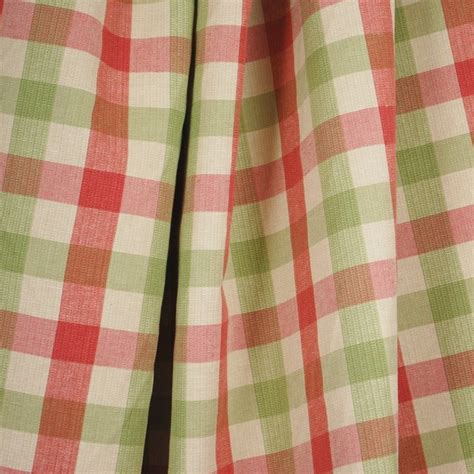 green check upholstery fabric vanderbilt pink green linen check fabric traditional