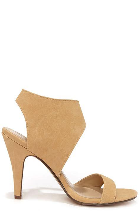 Heals Stap Beige beige heels ankle heels 25 00
